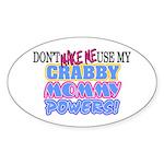 Crabby Mommy Powers Oval Sticker