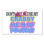 Crabby Mommy Powers Rectangle Sticker