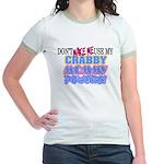 Crabby Mommy Powers Jr. Ringer T-Shirt