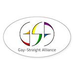 GSA Spin Oval Sticker (10 pk)