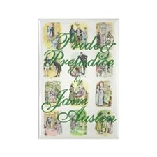 Jane Austen Rectangle Magnet