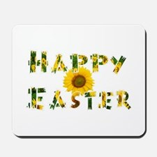 Happy Easter Sunflower Mousepad