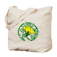 Art Decor Yellow Rose Tote Bag
