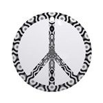 Peace Sign (bw) Ornament (Round)