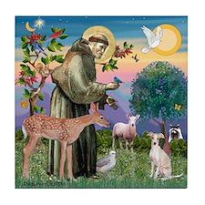 St Francis / Ital Greyhound Tile Coaster