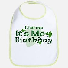 Kiss Me Irish Birthday Bib
