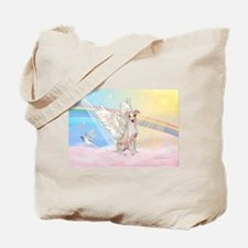 Clouds / Italian Greyhound Tote Bag
