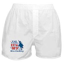 Kiss Me Cowboy Birthday Boxer Shorts