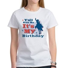 Kiss Me Cowboy Birthday Tee