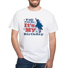 Kiss Me Cowboy Birthday Shirt