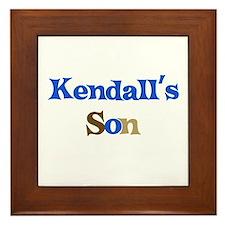 Kendall's Son Framed Tile