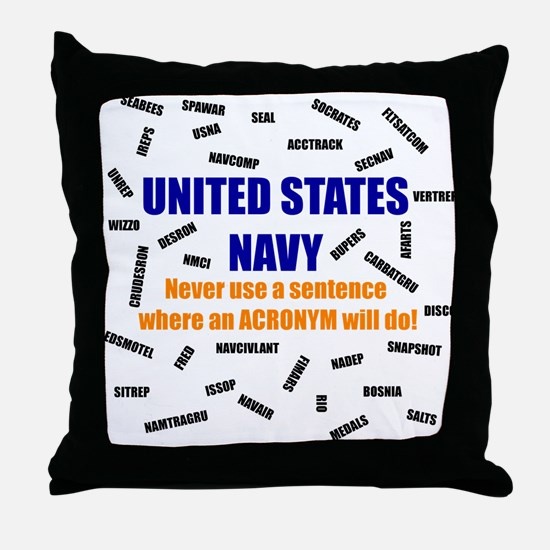 Navspeak Throw Pillow