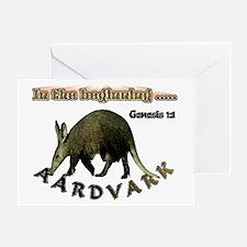 Aardvark Genesis 1:1 Greeting Card