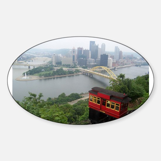 Pittsburgh Skyline Oval Decal
