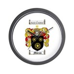 Moran Family Crest Wall Clock