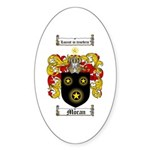 Moran Family Crest Oval Sticker