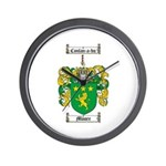 Moore Family Crest Wall Clock