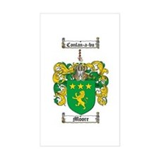 Moore Family Crest Rectangle Bumper Stickers