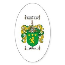 Moore Family Crest Oval Decal
