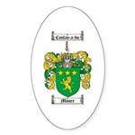 Moore Family Crest Oval Sticker