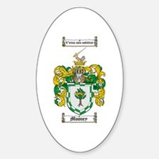 Mooney Family Crest Oval Decal