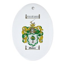 Mooney Family Crest Oval Ornament