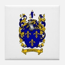 Montgomery Family Crest Tile Coaster