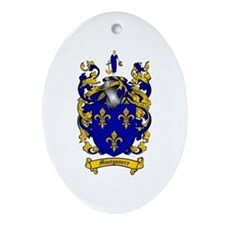 Montgomery Family Crest Oval Ornament