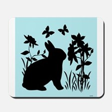 SPRING BUNNY SILHOUETTE Mousepad