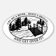 Get Over it! Oval Decal