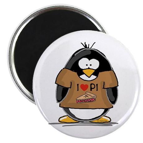 I Love PI Penguin Magnet