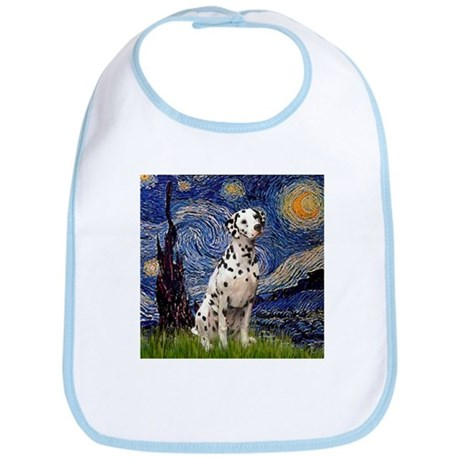 Starry Night & Dalmatian Bib