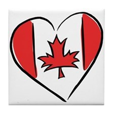 Love Canada Tile Coaster