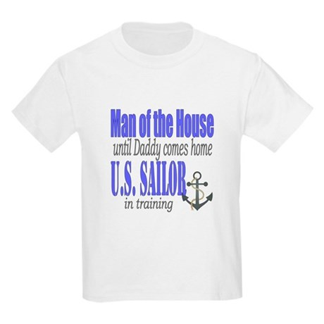 Navy Sailor Man of the house Kids Light T-Shirt