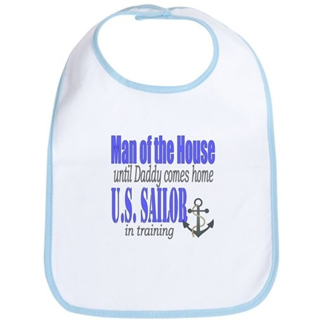 Navy Sailor Man of the house Bib