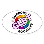 GLBT Equality Oval Sticker