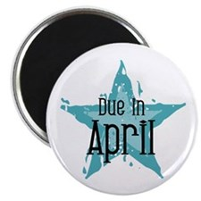 Blue Star Due In April Magnet