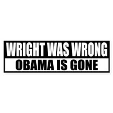 Wright Was Wrong Bumper Bumper Sticker