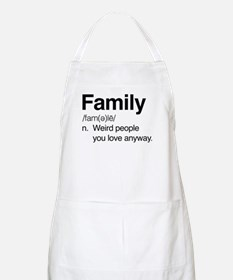 Family Weird People Light Apron