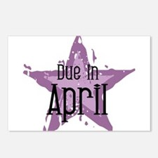 Purple Star Due In April Postcards (Package of 8)