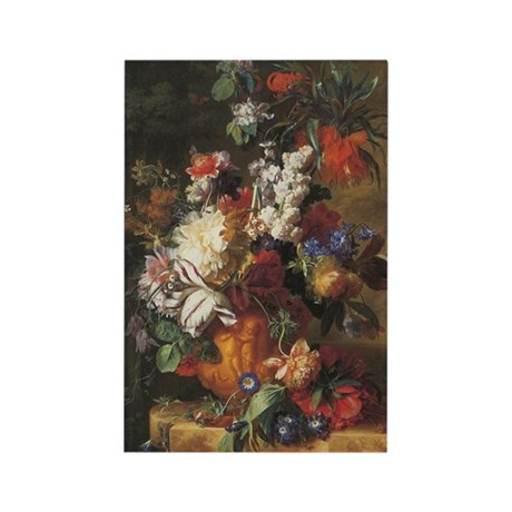 Bouquet of Flowers painting by Huysum Rectangle Ma