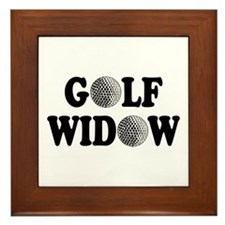 Golf Widow Framed Tile