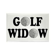 Golf Widow Rectangle Magnet
