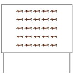 Weiner Dog Yard Sign
