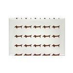 Weiner Dog Rectangle Magnet