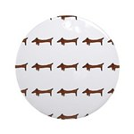 Weiner Dog Ornament (Round)