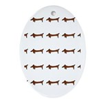 Weiner Dog Oval Ornament