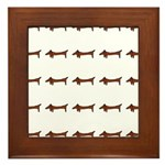 Weiner Dog Framed Tile