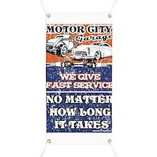 Motor City Fast Service Garage Banner