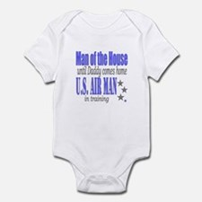 Airforce Man of the House Infant Bodysuit